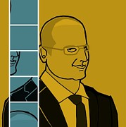 Donna Huntriss Metal Prints - James Spader  The Black List Yellow Edition Metal Print by Donna Huntriss