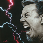 Metallica Painting Framed Prints - James Wrath Framed Print by Christian Chapman Art