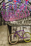 Flagstones Prints - Jamess Bike Print by Matthew Bruce