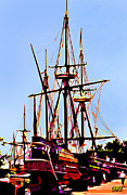 Boats At Dock Prints - Jamestown Dock Print by CHAZ Daugherty