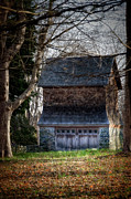 Barn Door Posters - Jamestown House Poster by Joan Carroll
