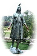 Christiane Schulze Digital Art Posters - Jamestown Pocahontas Statue Poster by Christiane Schulze