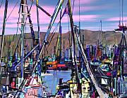 Harbors Metal Prints - Jammin at twilight Metal Print by Kurt Van Wagner