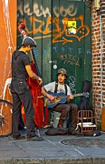 Bass Guitar Posters - Jammin in the French Quarter Poster by Steve Harrington