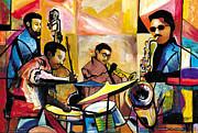 Jammin N Rhythm Print by Everett Spruill