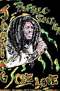 Reggae Music Art Prints - Jamming Print by Glenn Cotler