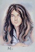 Singer Pastels Metal Prints - Jan Gillan Metal Print by Melanie D