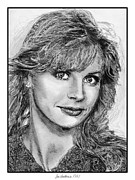Closeups Drawings Posters - Jan Smithers in 1981 Poster by J McCombie