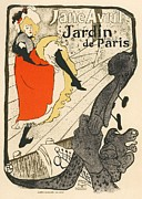 Paris Digital Art Posters - Jane Avril Jardin de Paris Poster by Sanely Great