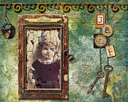 Keys Mixed Media Framed Prints - Jane Framed Print by Karen  Burns