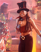 Janet Jackson Posters - Janet-94-Top Hat Poster by Gary Gingrich Galleries