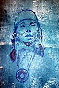 Native American Reliefs Prints - Janet McCloud Print by Jane Madrigal