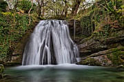 Landscapes Pyrography Framed Prints - Janets Foss Waterfall Framed Print by Karl Wilson