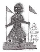 Indian Tribal Art Paintings - Jangarh Singh Shyam 01 LIMITED EDITION PRINTS by Jangarh Singh Shyam