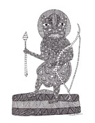 Gond Paintings - Jangarh Singh Shyam 47 LIMITED EDITION PRINTS by Jangarh Singh Shyam