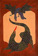 Gond Paintings - Jangarhs 1992 Acrylic On Canvas by Jangarh Singh Shyam