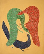 Gond Paintings - Jangarhs 1994 by Jangarh Singh Shyam
