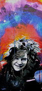 Oil Pastels Paintings - Janis by dreXeL