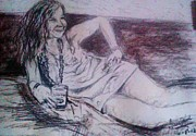 Janis Joplin Drawings - Janis by Fancy Woods