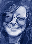 Chromatic Painting Prints - Janis Joplin Blue Print by Michele Engling