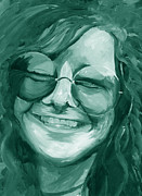 Chromatic Painting Prints - Janis Joplin Green Print by Michele Engling