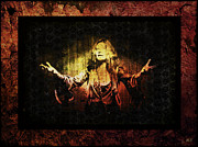 Rock N Roll Digital Art - Janis Joplin - Gypsy by Absinthe Art  By Michelle Scott