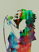Rock Star Painting Prints - Janis Joplin Print by Irina  March