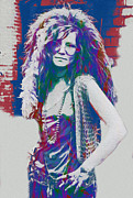 Singer Songwriter Digital Art - Janis Joplin by Jack Zulli