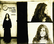 Mug Shot Prints - Janis Joplin Mugshot Print by Unknown