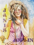 Janis Joplin Framed Prints - Janis Joplin Painted Poster Framed Print by Kathryn Donatelli