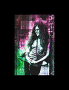 Rock N Roll Digital Art - Janis Joplin - Pink by Absinthe Art  By Michelle Scott