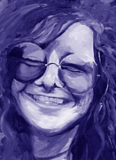 Chromatic Painting Prints - Janis Joplin Purple Print by Michele Engling