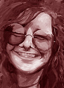 Chromatic Prints - Janis Joplin Red Print by Michele Engling