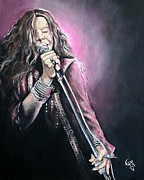 Janis Joplin Framed Prints - Janis Joplin Framed Print by Tom Carlton