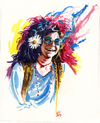 Janis Joplin Framed Prints - Janis Framed Print by Ken Meyer jr