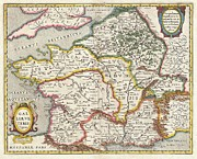 Jansson Prints - Jansson Map of France or Gaul in Antiquity Print by Paul Fearn