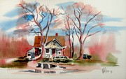 Water Colour Painting Originals - January Afternoon by Kip DeVore