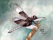 Dragonflies Originals - January Dragonfly by Lynne Hurd Bryant