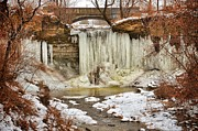 Green Bay Photos - January Melt at Wequiock Falls  by Shutter Happens Photography