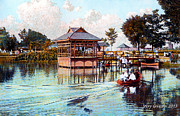 Boaters Prints - Japanese Bandstand Lancaster Park Print by Jerry  Grissom