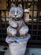 Symbolize Art - Japanese beconing cat will bring you prosperity by Chieko Shimado