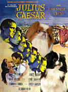 Japanese Chin Framed Prints - Japanese Chin Art - Julius Caesar Movie Poster Framed Print by Sandra Sij