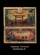 Japanese Currency From World War II Print by Diane Strain