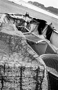 Netting Photo Metal Prints - Japanese Fishing Boat Metal Print by Dean Harte
