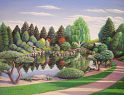 Denver Pastels Prints - Japanese Garden Print by Bruce MacBride
