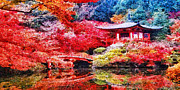 Japanese Painting Prints - Japanese Garden Print by Mo T