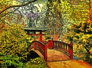 Japanese Tea Garden Paintings - Japanese Garden by Ralph van Och