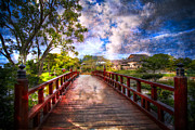 Florida Bridges Prints - Japanese Gardens Print by Debra and Dave Vanderlaan