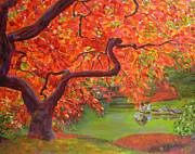 Robie Benve Prints - Japanese Maple Tree Print by Robie Benve