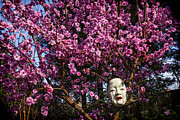 Blooming Tree Posters - Japanese Mask Poster by Garry Gay